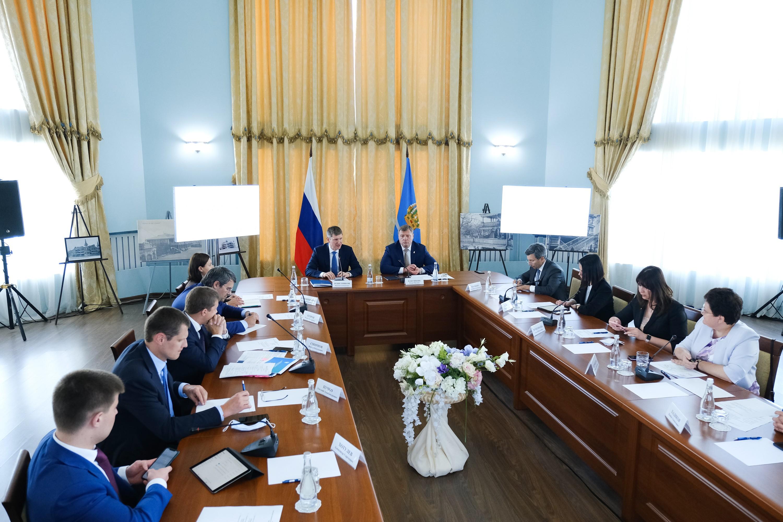 Министр экономического развития Максим Решетников посетил Астрахань  с рабочим визитом